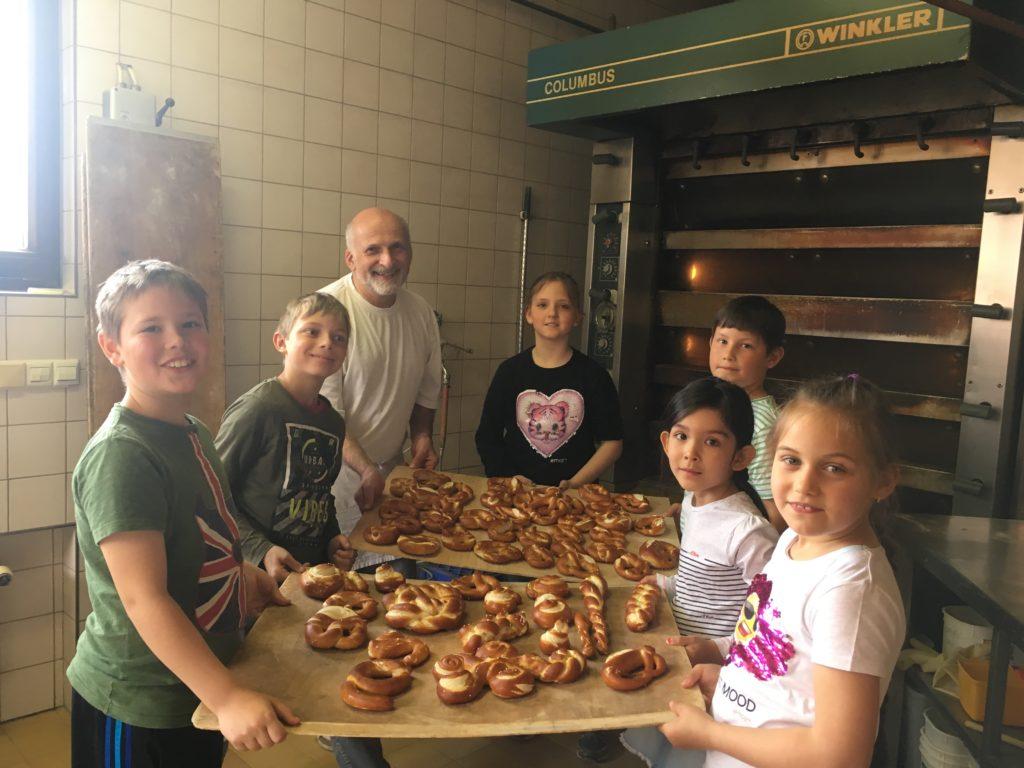 Zu Besuch in der Bäckerei Schaible